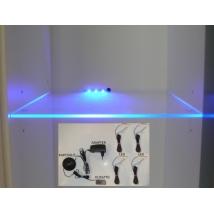 Cama ledsor 4 üvegpolchoz, kék