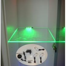 Cama ledsor 3 üvegpolchoz, zöld