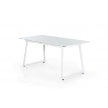 Aaron 160x80-as asztal FEHÉR színben