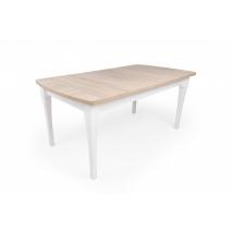 CIPRUS 170+2x35 cm Étkezőasztal SONOMA TÖLGY lap + FEHÉR lábak