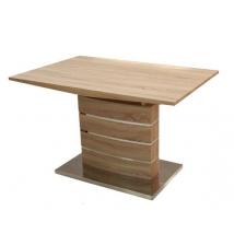 CLAUDIA Kis Asztal 120X80+40 Sonoma Tölgy