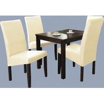 BERTA étkező 4+1 (Wenge - beige) - BERTA asztal