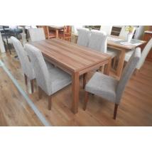 BERTA étkező 6+1 (Szilva - világos barna zsákszövet) - BERTA asztal