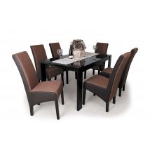 DORINA étkező 6+1 PIERO asztallal Wenge - Sötétbarna