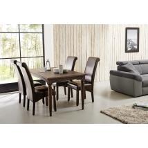 EDMONTON 160x90-es asztal 4 db PULS barna székkel