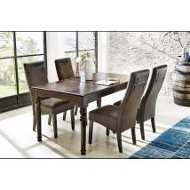EDMONTON 160x90-es asztal 4db TOULON barna székkel