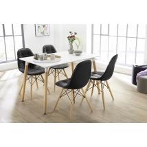 GRÖNLAND 120-as asztal 4db JUITS fekete székkel