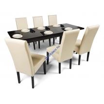 BERTA étkező 6+1 (Wenge - beige) - BERTA asztal