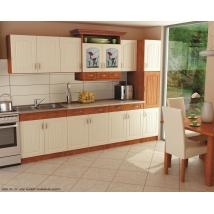 .CSELLŐ konyhabútor 280 cm-es FIX összeállítás Bézs márvány munkalappal