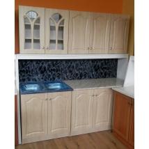.KITTI konyhabútor 200 cm JUHAR színben + Bézs márvány munkalap