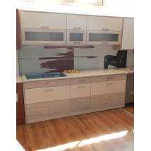 ALEXA konyhabútor 229 cm BOB FENYŐ színben - BEIGE Bézs-márvány munkalappal