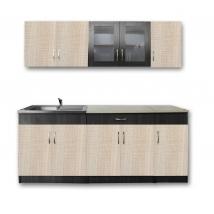 FLÓRA 200 konyha FIX 1 mély+csepp - CANTERBURY/SANTANA- BÉZS SZÍNŰ MLAP
