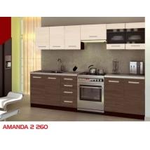 AMANDA-2 Konyhabútor 260-as SANTANA- ARDEN TÖLGY színben, gránit mintás munkalappal