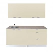 IZABELLA konyhabútor 180 cm-es Fehér - MAGASFÉNYŰ beige színben VÁLASZTHATÓ SZÍNBEN