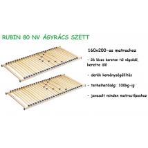 RUBIN 80 NV ágyrács szett 2db 80X200