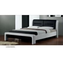 CASSANDRA ágykeret ágyráccsal 160x200-as  FEHÉR/FEKETE
