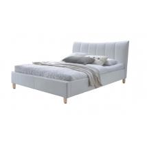 .SANDY ágykeret ágyráccsal 160x200-as, fehér