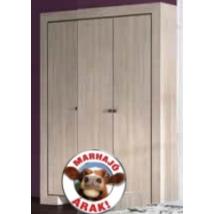 CUBA 22CXRB-19 gardrób 3 ajtós polcos CANTERBURY TÖLGY színben