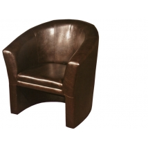 CLUB fotel textilbőr BARNA