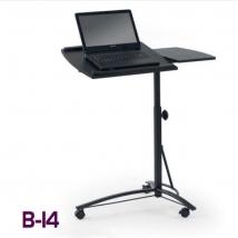 B-14 számítógépasztal FEKETE színben