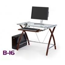 B-16 számítógépasztal WENGE színben
