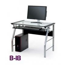 B-18 számítógépasztal FEKETE színben