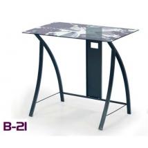 B-21 számítógépasztal üveg asztallappal