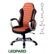 LEOPARD forgószék világosbarna - fekete