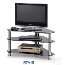 RTV-13 TV-állvány, fekete üveggel