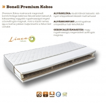 BONELL PREMIUM KOKOS bonellrugós matrac 160x200 - 23 cm vastag