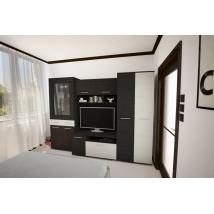 GOLDEN szekrénysor 280 cm-es, nero - bianco színben