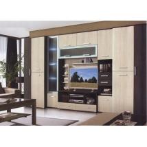 BIG-ROY szekrénysor 360 cm-es CANTERBURY - SANTANA Tv-s polcos hátfallal LED NÉLKÜL
