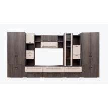 MERKUR szekrénysor 420 cm CANTERBURY - SANTANA színben