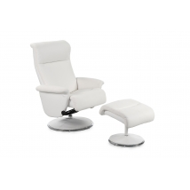 RICARDA Fotel + Puff 440-07 Fehér