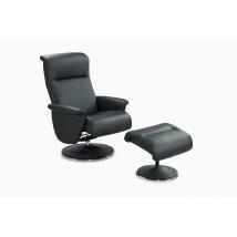 RICARDA Fotel + Puff 440-16 Fekete