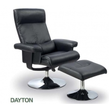 DAYTON fotel fekete + puff