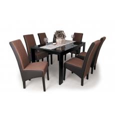 DORINA 6+1 Étkező PIERO asztallal Wenge - Sötétbarna