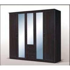 Fortuna 22XTRH-21 Gardrób 5 ajtós 3 fiókos tükrös wenge