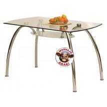 CORVIN BIS 125-ös Üveglapú Étkezőasztal