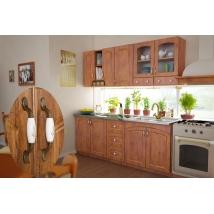.ZILLE konyhabútor 200 cm ANTIK TÖLGY + Bézs márvány munkalap