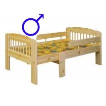 Etsberger LEO gyermekágy 3 lépésben hosszabbítható + FIÚS MATRAC