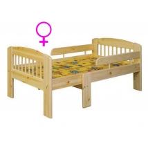 Etsberger LEO gyermekágy 3 lépésben hosszabbítható + LÁNYOS MATRAC - INGYEN SZÁLLÍTÁSSAL