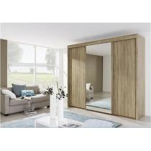 .Imperial Gardrób 1i33 1 ajtó tükrös 300 cm széles - AN666 Somona tölgy