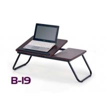 B-19 számítógépasztal SÖTÉT DIÓ színben