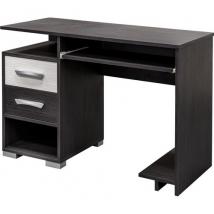 BASEL 2 fiókos íróasztal NERO BIANCO színben