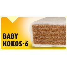 BABY KOKOS-6 70X140 GYEREKMATRAC EVO-KID HUZATTAL - 6 cm vastag