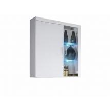 SAMBA (R-4) Függesztett szekrény fali vitrin FEHÉR - FEHÉR magasfényű