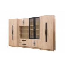 DIABLO szekrénysor 320 cm SONOMA TÖLGY - FEKETE színben