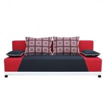ROKAR kanapé PIROS - FEKETE színben