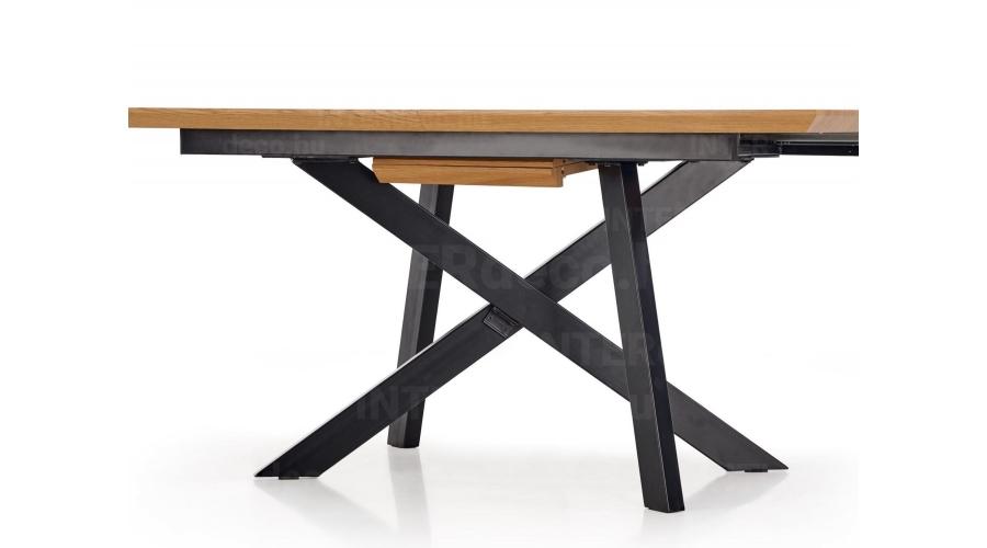 CAPITAL étkezőasztal 160(+40)cm Arany Tölgy Fekete